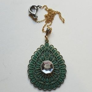GYPSY MEDALLION patina drop MOONDUST necklace new